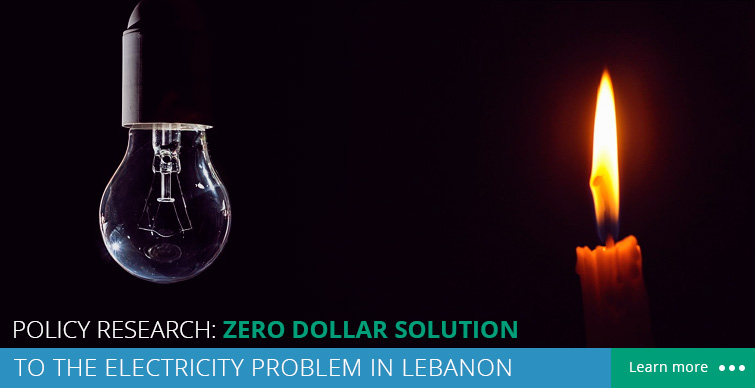 Zero dollar solution for the electricity problem in lebanon
